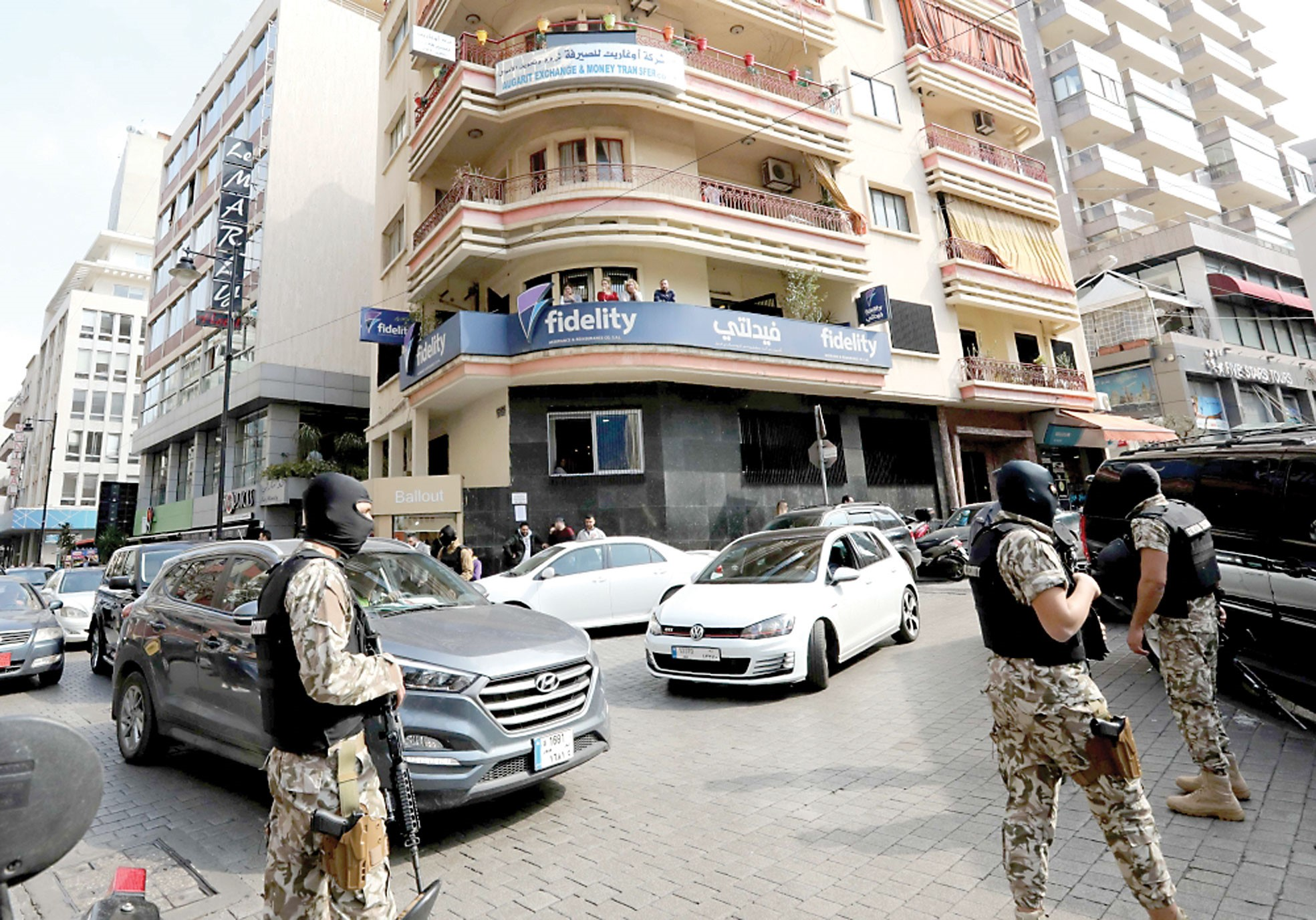 Raiding financial firms in Lebanon suspected of turning money into Daesh